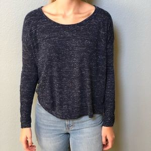 Navy long sleeve with lace slit